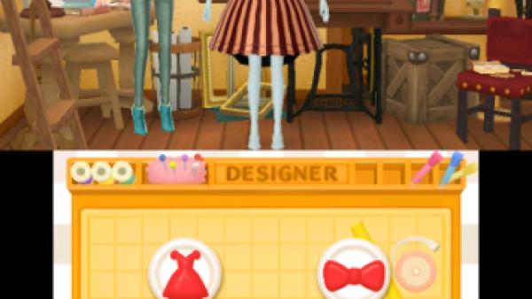 Screenshot: Als Designerin kann man neue Modestücke entwerfen.