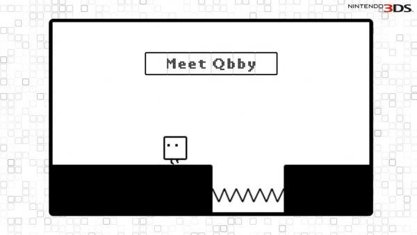 Screenshot: Die kleine Box Qbby vor einem Abgrund