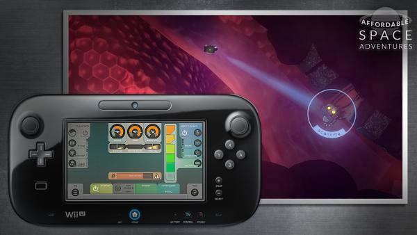 Screenshot: beide Bildschirme (TV und Touchscreen) werden genutzt