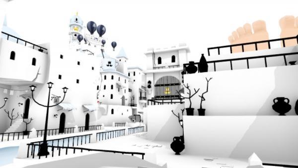 Stadt in schwarz-weiß