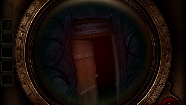 """Screenshot von """"The Room Two"""" mit einer halboffenen Türe"""