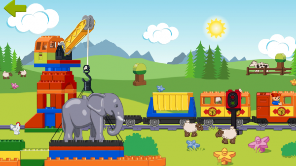 Screenshot: Lego Duplo Zug, Tiere und Figuren