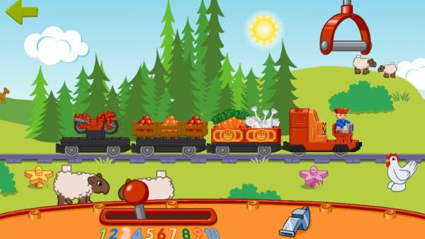 Screenshot: Lego Duplo Zug und Tiere