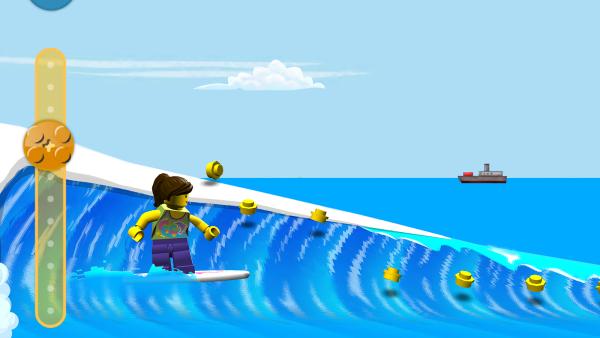 Screenshot: Surferin auf Welle