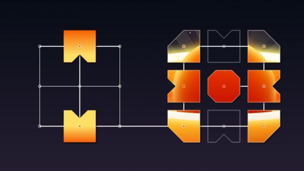 Bei diesem Puzzle müssen Teile in der richtigen Reihenfolge auf die Endposition geschoben werden.