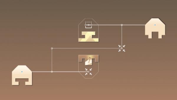 Ein weiteres Puzzle, wo die Teile um 180 Grad gedreht werden müssen.