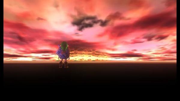 Link bei Sonnenuntergang