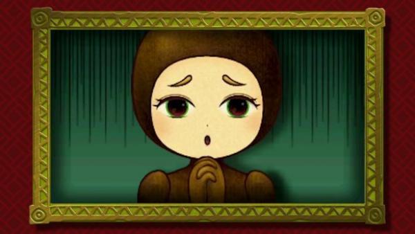 Screenshot: die traurige Prinzessin im Lumpengewand