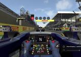 Screenshot: Cockpit Perspektive beim Formel 1 Rennen