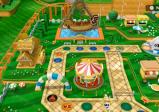 Überblick über eines der Spielbretter. Man sieht die Spielfelder und rundherum Deko-Gegenstände.