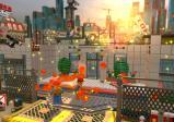 Mehrere LEGO-Bauarbeiter sammeln LEGO-Steine ein