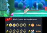 Screenshot: Ein bunter Yoshi streckt gerade seine Zunge heraus.