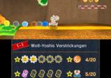 Screenshot: Yoshi läuft mit bunten Wollknäulen herum.