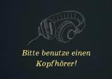 Screenshot: Der schriftliche Aufruf zur Verwendung von Kopfhörern. Darüber befindet sich ein stilisiertes Bild von Kopfhörern.