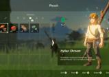 Screenshot: Das Inventar zeigt mehrere Objekte mit denen man Link ausrüsten kann.
