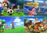 Screenshot: Mehrere Nintendo-Charaktere beim Golfen, Reiten, Fußball und Tennis spielen.