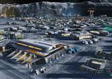 Screenshot: Besiedlung des Mondes mit speziellen Gebäuden, die an die widrigen Umstände angepasst sind.