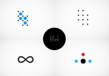 Blek Puzzle mit Kreisen und Linien etc.