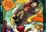 Das Coverbild zeigt eine Actionszene im Comicstil.