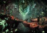 Eine gruselige Szene in einer höhlenartigen Umgebung