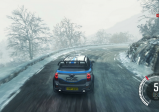 Screenshot: Außenansicht des Wagens während des Rennens.