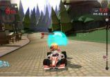 Ein Rennfahrer fährt mit einer Spezialfähigkeit.