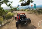 Screenshot: Ein Geländewagen auf einer Offroad-Strecke