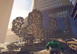 Hulk greift Sandman in New York an.
