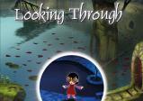 """Ein kleines Mädchen in rotem Kleid mit einer großen Brille steht in einer Wassedrlandschaft. Darüber der Schriftzug """"Lilly Looking Through""""."""