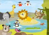 Screenshot: Bereich Tiere verschiedene Tiere z.B.: Elefant, Löwe, Affe,..