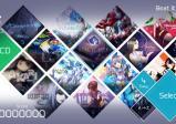 Screenshot: Auswahl der spielbaren Songs, sortiert nach dem Alphabet.