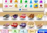 Verschiedene Schuhe im Regal.
