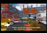 Männer auf dem Weg zum Feuerwehrauto.