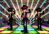 Drei Tänzer auf der Tanzfläche.