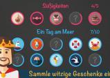 Screenshot: Ein Überblick über verschiedene freischaltbare Spielelemente