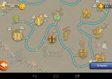 Level-Auswahlmenü in Form einer Landschaftskarte