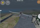 Screenshot: knapper Vorbeiflug am Tower bei Schlechtwetter
