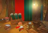 Screenshot: Ein Bär hält in einer Werkstatt eine Malerrolle und eine Zange in der Hand.