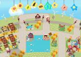 Screenshot: eine Stadt mit Wasserflächen, die sich über den gesamten Bildschirm erstreckt.