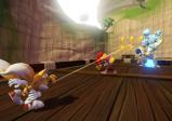 Sonic und seine Freunde kämpfen gegen einen Roboter.
