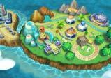 Die Spielinsel von oben.