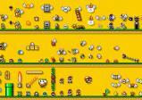 Screenshot: Gelbes Level mit vielen Items