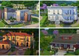 Verschiedene Gebäude mit unterschiedlichen Fassaden, Farben.