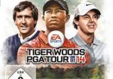 Das Coverbild zeigt Tiger Woods und zwei weitere Golfspieler.