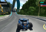 Screenshot: Ein Wagen nähert sich einem Looping