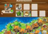 Oberer Bildschirm: Menü, unten: Siedlung