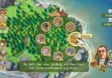 Kreisförmiges Menü über einer Insel.