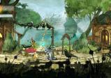 Aurora unterhält sich mit einem Dorfbewohner auf dem Brunnenplatz
