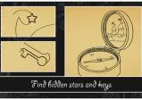 Spielende sollen versteckte Sterne und Schlüssel finden.