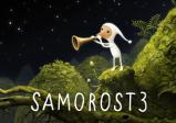 Cover:  Ein kleines gnomähnliches Wesen in einem weißen Anzug mit Zipfelmütze bläst in ein Horn. Die Umgebung ist von Pflanzen und Moos überwuchert und am dunklen Himmel leuchten Sterne